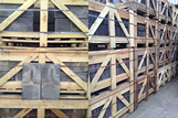 Reclaimed Slates in crates